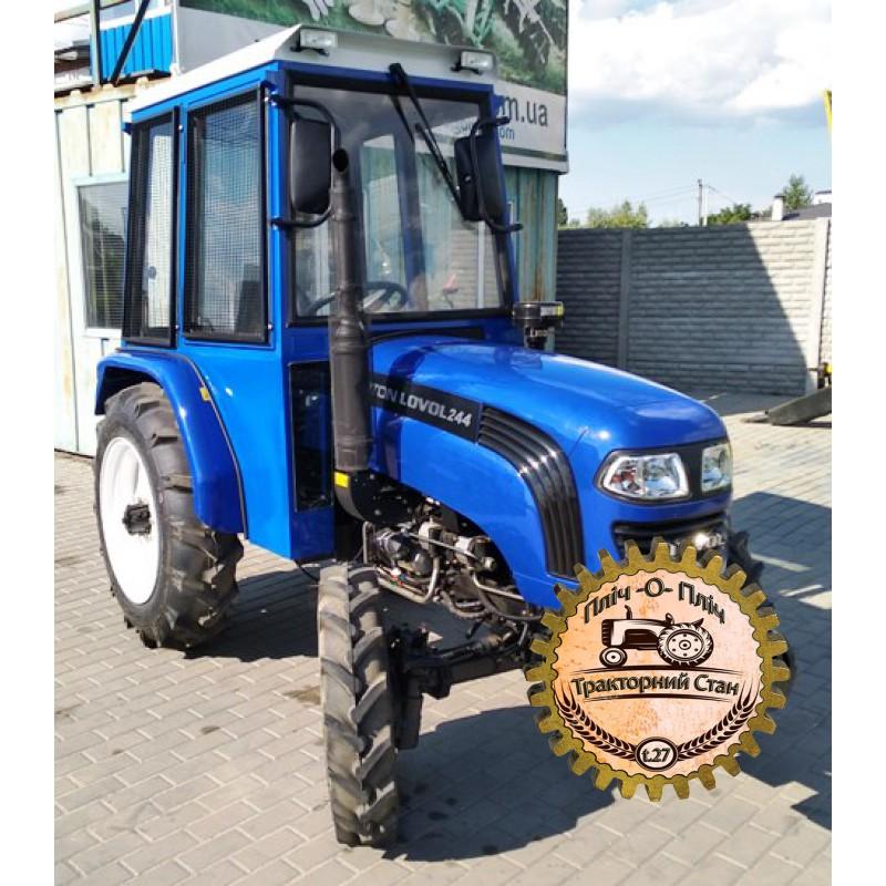 Мини-трактор Foton/Lovol-244 (Фотон-244) c реверсом, широкими шинами и кабиной, сделанной в Украине