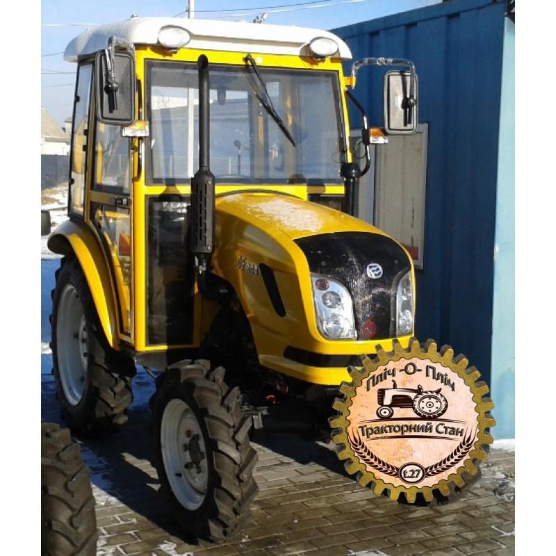 Мини-трактор Dongfeng-244DC (Донгфенг-244DC) с кабиной желтый