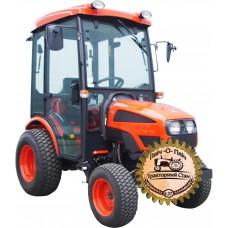 Мини-трактор Kioti CK-22C (Киоти СК-22C) с кабиной и газонными шинами