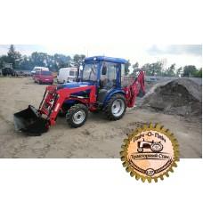 Фронтальный погрузчик Fel - 250 KS, задний подвесной экскаватор BK - 215 на мини трактор, трактор, от 24 (л.с)