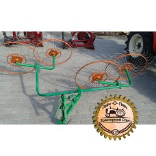Грабли-ворошилка «Солнышко» 4-х колесные для мотоблока